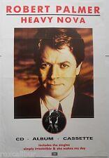 ROBERT PALMER Heavy Nova Album Very Rare Original 1988 UK Record Company POSTER
