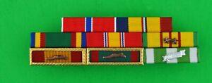 CUSTOM VIETNAM WAR NAVY VETERAN 8 RIBBON BAR 8 - COMBAT ACTION & 2 UNIT AWARDS