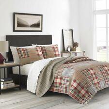 Eddie Bauer® Hawthorne Patchwork Reversible King Quilt Set in Brown
