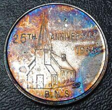 1985 BRANTFORD NUMISMATIC SOCIETY 25TH Anniv. - Beautiful Rainbow Tone - Church