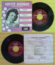 LP 45 7'' YVETTE HORNER Gelsomina Mama negra Souvenir d'italie no cd mc dvd