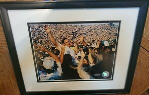 Don Shula Framed & Matted Autographed 8x10 Photo Steiner COA Carrying Off Field