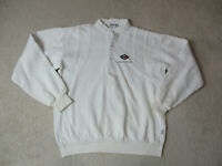 VINTAGE Chevy Corvette Sweater Adult Large White Gray Chevrolet Racing Men 90s *
