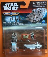 Star Wars The Force Awakens Micro Machines 3-Pack Speeder Chase, Multicolor NEW