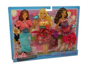 Barbie Fashionistas TEA PARTY Clothes: Set of 3 Doll Outfits & Accessories NEW