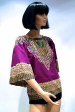 Vintage Hippie hippy cotton top African 60s 70s boho ethnic festival dashiki