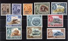 CYPRUS 1960 DEFINITIVES SG188/198 BLOCKS OF 4 MNH