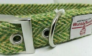 Green Herringbone   Dog collar & lead set  various sizes Harris Tweed