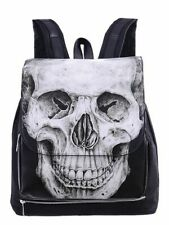 Restyle Human Skull Rugzak Backpack Gothic Metal Rock Occult Alternative