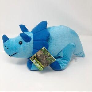 Fiesta Triceratops Dinosaur Plush Animal Blue New