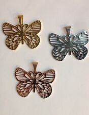 New Beautiful Big Butterfly Pendant For Woman Style Stainless Steel 316L