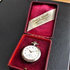 """HERREN TASCHENUHR, Silber-0,800, Zylindergang, """"10 Rubis"""", gute Funktion,ca 1915"""