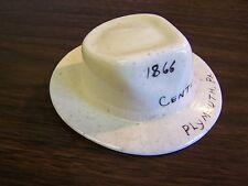 VINTAGE PLYMOUTH PA - CENTENNIAL 1866 - 1966, SOUVINER CERAMIC COWBOY HAT EXCEL
