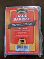 Cardboard Gold PSA Submission Card Saver I ~ 50 Count - IN STOCK NOW!!!