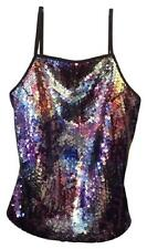 EXPRESS Colorful Sequined Corset Top SIZE XS Showgirl Pin Up SEQUINS SEXY GLAM