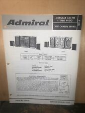 Admiral AM-FM Stereo Model #KS853,KS858-Service Manual- Schematics Etc.