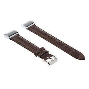 Replacement Genuine Leather Band for Fitbit Charge 2 & 3 Strap Braclet Wristband