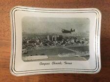 *1930s Aerial View Corpus Christi Texas TX Vintage Glass Photo Tray