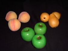 Artificial Fruit Fake Apples  Pears Life Sz Decor Props Crafts  Lot