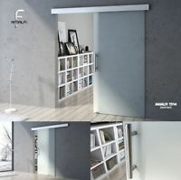 Modern Sliding Glass Door Fully Frosted Tempered Glass with Soft Close