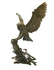 More details for bronze barn owl large richard cooper bronze limited edition of 50 silent shadow