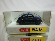 WIKING VW VOLKSWAGEN BEETLE - POLIZEI POLICE - BLUE 1:87 - EXCELLENT IN BOX