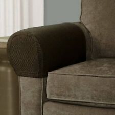 Mainstays Pixel Stretch Fabric Furniture Armrest Cover, Set of 2, Costa Brown