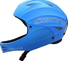 Ozone Nutshell Helmet Blue with Chin Guard for Paragliding, Hang Gliding Size S