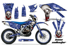 AMR RACING GRAPHIC DECAL KIT & NUMBER PLATE BACKGROUNDS YAMAHA WR450 -2012 BONES
