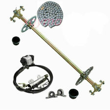 Rear Axle Kit Hub & Brake Cylinder & Chain, Sprocket , Disc Rotor Mini Atv Trike