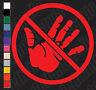 HANDS OFF!!!!! Vinyl car/laptop/window/locker/toolbox/anywhere decal sticker