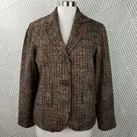Coldwater Creek Size 10 Button-up Jacket Blazer Womens twill Tweed career