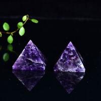 35-40mm Natural Amethyst Quartz Crystal Pyramid Healing Specimen Decoration1pcs