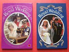 Ladybird Royal Wedding Books-Prince Charles & Diana-Prince Andrew & Sarah-Qe11