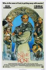 THE NAME OF THE ROSE Movie POSTER 27x40 C Sean Connery F. Murray Abraham