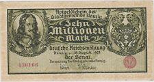 Notgeldschein der Stadtgemeinde Danzig # 436166 Zehn Millionen Mark Danzig 1923