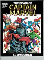 Marvel Graphic Novel #1 Death of Captain Marvel 1st Print Thanos Jim Starlin HG