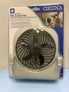 O2 COOL (FD05004) Battery Powered Portable Fan with 2 Speeds For Pet Crate