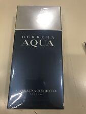 Herrera Aqua By Carolina Herrera EDT For Men Natural Spray 3.4oz. NEW SEALED