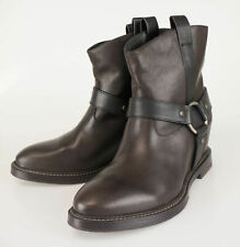 New BRUNELLO CUCINELLI Brown Leather Ankle Boots Shoes Size 39.5/9.5 $2165