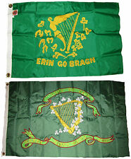 3x5 3'x5' Wholesale Combo Embroidered Son's of Erin & Erin Bragh 300D Nylon Flag