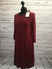 Monsoon Wine Berry Shift Jumper Dress Ribbon Tie Size 10 843037