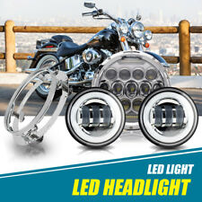 "Harley Fatboy Heritage Softail Deluxe FLST 7"" Chrome LED Daymaker Headlight Kit"