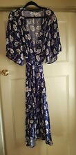 Navy floral wrap dress size 14