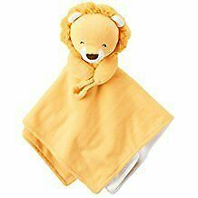 NWT Carters Yellow White Lion Baby Plush Security Blanket Pacifier Holder Loop