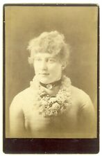 Woman with Attractive Flower Necklace, Gowanda, NY