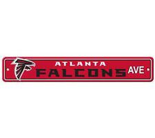 "Atlanta Falcons Ave Street Sign 4""x24"" NFL Football Team Logo Avenue Man Cave"