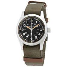 Hamilton Khaki Field Men's Black Watch with Green Nylon Band - H69439931