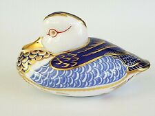 Vintage Hand-painted Royal Crown Derby Duck Paperweight