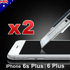 2x Scratch Resist Tempered Glass Screen Protector Guard iPhone 6 iPhone 6s Plus iPhone 6plus